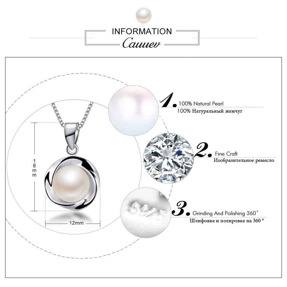 925 สร้อยคอจี้เงินแท้แท้ 100% AAAA คุณภาพสูงจี้แท้ jewelry8-9mm