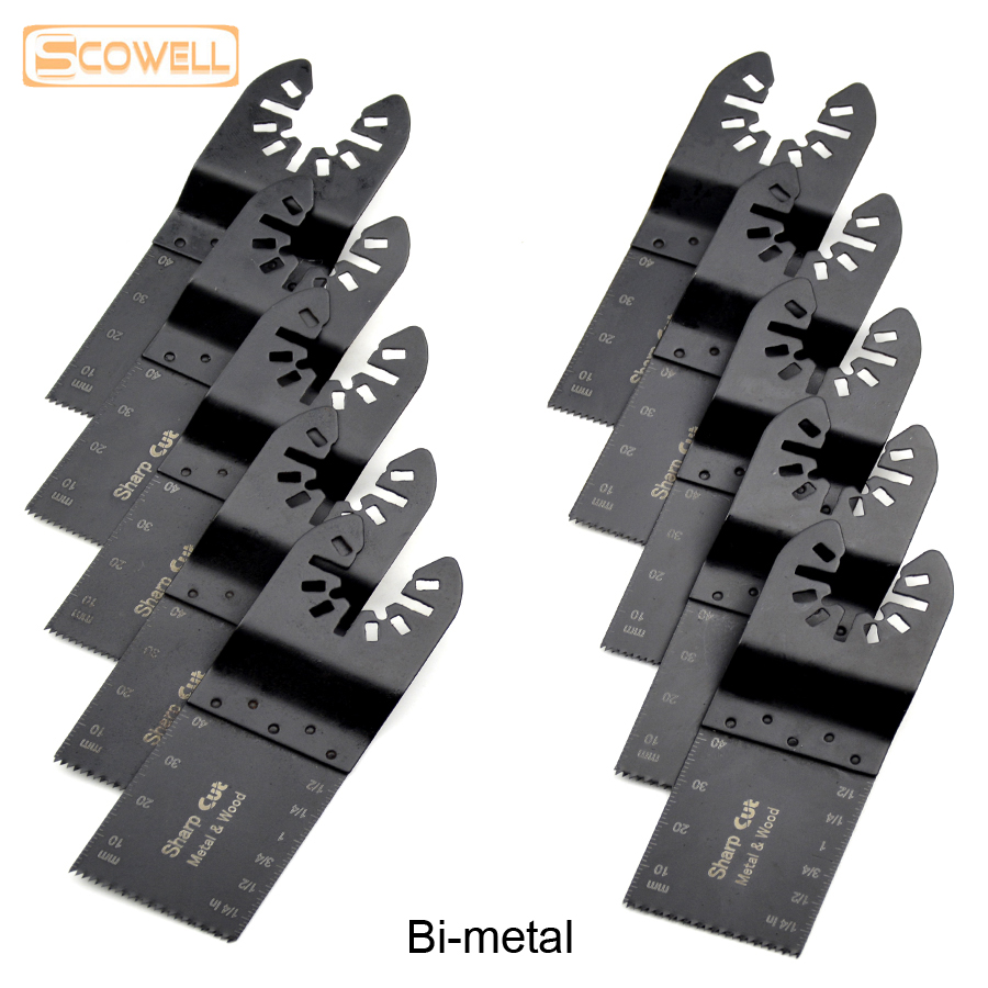 30% Off Bi-metal 34mm Universal Oscillating Tools Saw Blades Accessories Fit For Multimaster Power Tools Multi Tool Saw Bandsaw