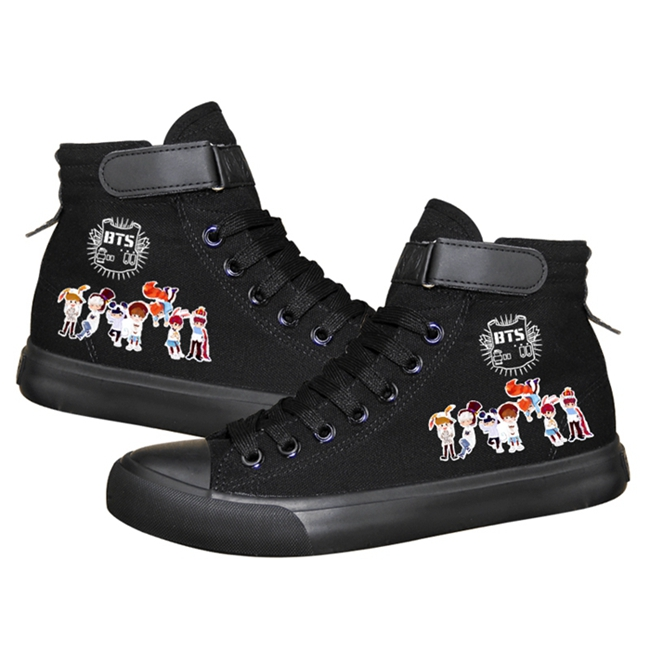 Casual HOT Kpop BTS Canvas Low Tops Athletic Shoes Love yourself Women Shoes