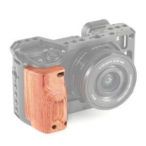 Image 5 - Petite Cage de caméra a6400 poignée en bois pour Sony A6400 poignée en bois à dégagement rapide 2318