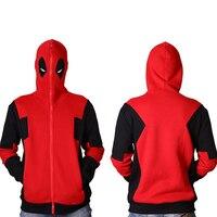 Deadpool Costume Cosplay Sweatshirt Marvel Comics Unisex Zip Up Hoodie Jacket Coat Shirts