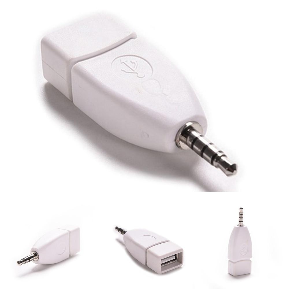 3.5mm Male Aux Audio Plug Jack To USB 2.0 Female Converter Adapter