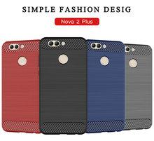 for Huawei nova 2 Plus BAC-AL00 Silicone Armor Bumper Shockproof Cover Phone Cases Fundas
