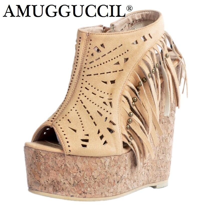 2019 Nouvelle Plus grande taille 34-52 Jaune Zip Mode Sexy 15 CM plateforme à talons hauts Fille Femme chaussures dames D'été sandales femmes L955