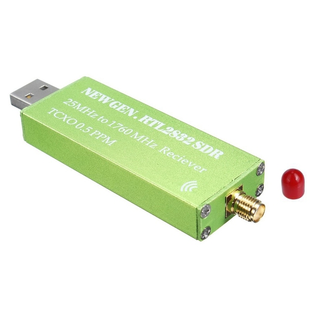 Adaptador USB RTL SDR RTL2832U + R820T2 + 1Ppm TCXO, sintonizador de TV, receptor