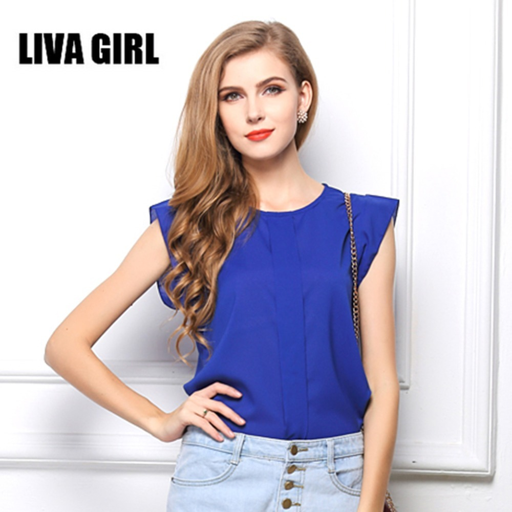 New Special European American Style Women Plug Size Chiffon Tee Shirt Comfortable Solid Color Short Sleeve Lady Shirt Tops