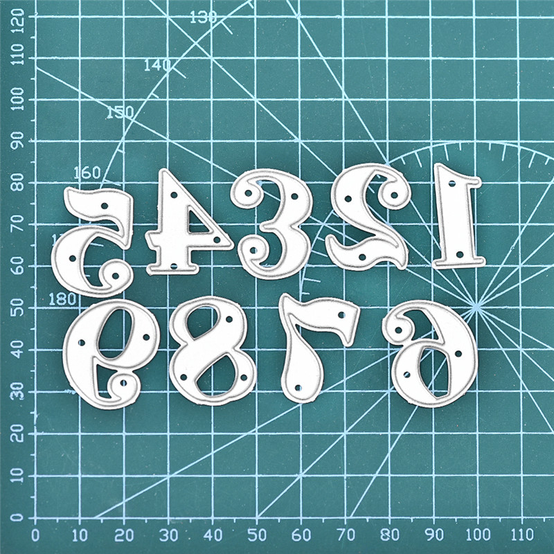Naifumodo 84 61mm Dies Cutting Number Alphabet Metal Cutting for DIY Scrapbooking Craft Card Embossing Die Cut New Template in Cutting Dies from Home Garden