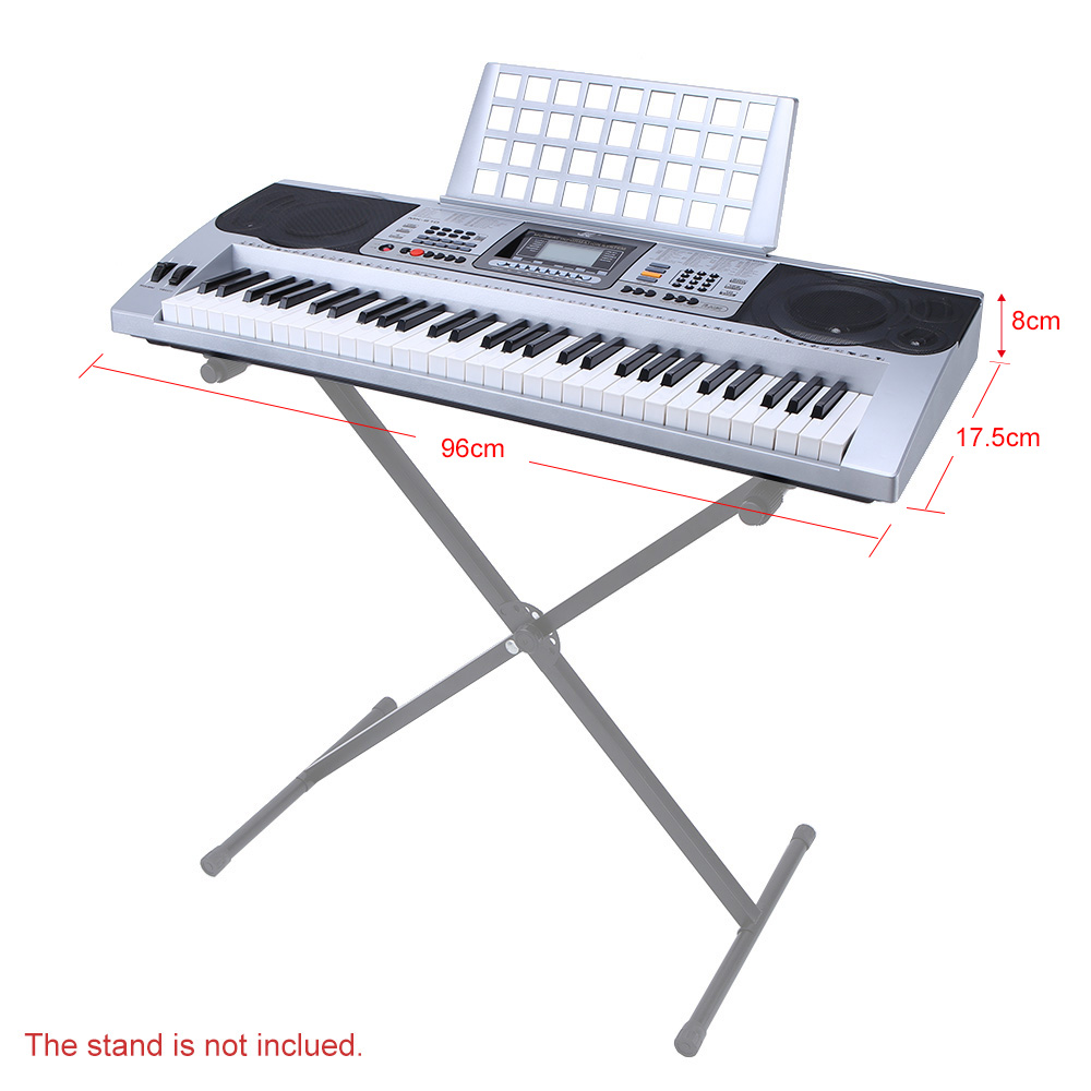 61 keys multifunctional lcd display digital keyboard electric 61 keys multifunctional lcd display digital keyboard electric piano organ with usb wheel sheet music holder gift for beginners in electronic organ from hexwebz Image collections