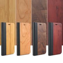 Kisscase Дерево чехол для iPhone 7 6 6 s случаях искусственная кожа + натурального дерева флип чехол для Iphone 7 6 6 S слот для карты бумажник телефон Сумки