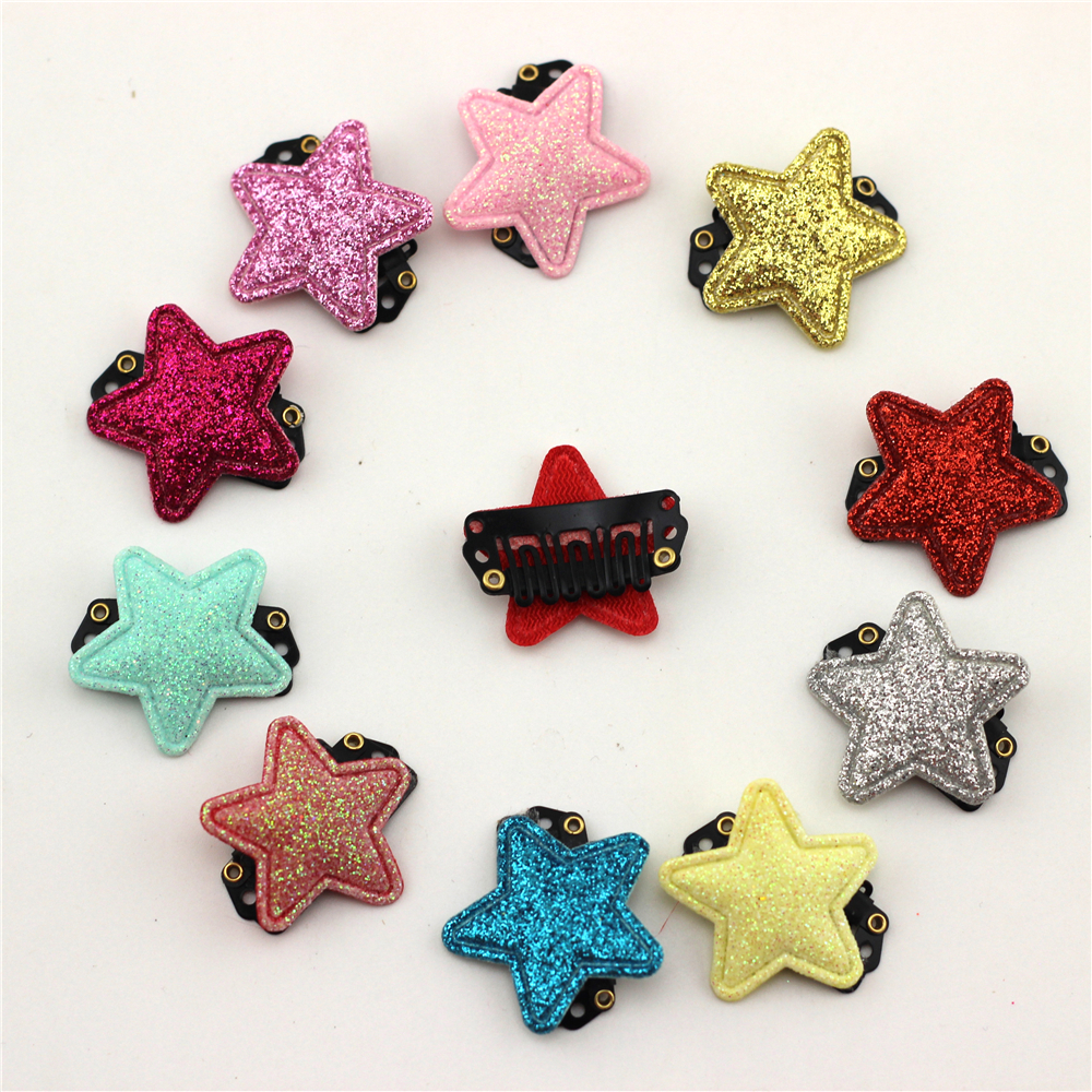 10pc Baby with Fine Wispy Hair Mini Latch Wisp Clip Newborn Shinning Star Hair clips Infant Hairpin Baby Girls Sequins Hairpin 2pcs bowknot girl kids mini hair clip hairgrip satin hair ribbon bows hairpin accessories for girls hair clips hairclip barrette