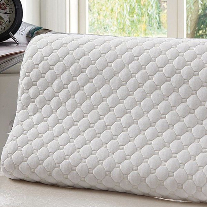 Sleep Bamboo Fiber Slow Rebound Memory Foam Pillow Cervical Health Care N1