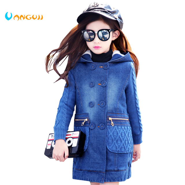 2018 Children Wind Coat 5 13 Year Old Girls All Match Clothes Double
