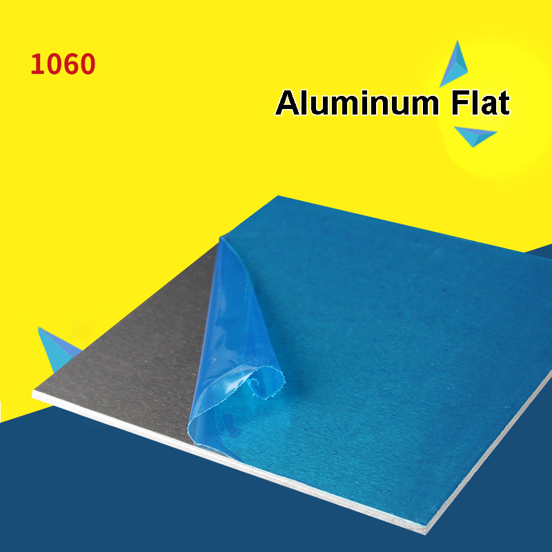 1060 Aluminum Flat Plate Sheet 0.2/0.5/1/2/3/4/5/6/8/10mm Machinery Parts Pure Aluminum Customizable Electrical Application(China)
