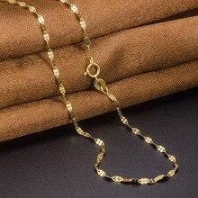 Изысканная цепочка из желтого золота Au750, Настоящее 18 K, женское ожерелье с клевером, 16 дюймов, 18 дюймов