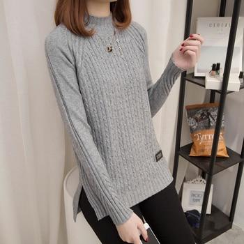 ccc76e9dd Roupas femininas inverno Harajuku Mulheres Outono Inverno Malhas Pullover  Blusas de Gola Streetwear Elegante damas trui
