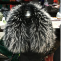 70*14cm Real Raccoon Fur Collar Womens 100% Natural Fur Collar Real Fur Shawl Raccoon collar Fur Scraves L#46