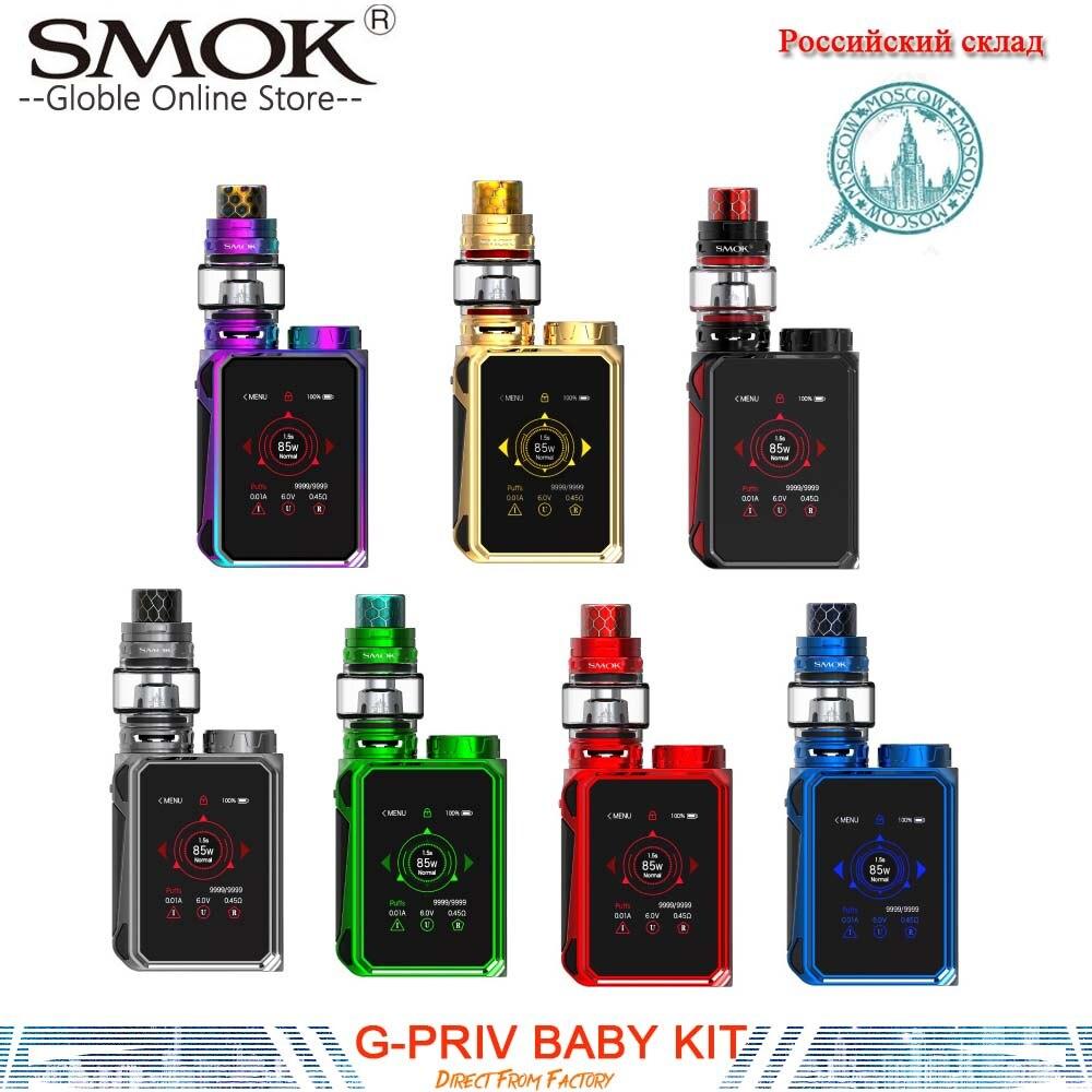 все цены на (RU Warehouse)SMOK G-PRIV Baby Luxe Edition 85W G PRIV Baby Mod 4.5ml TFV12 Baby Prince Tank Electronic Cigarette Kit VS X Priv онлайн