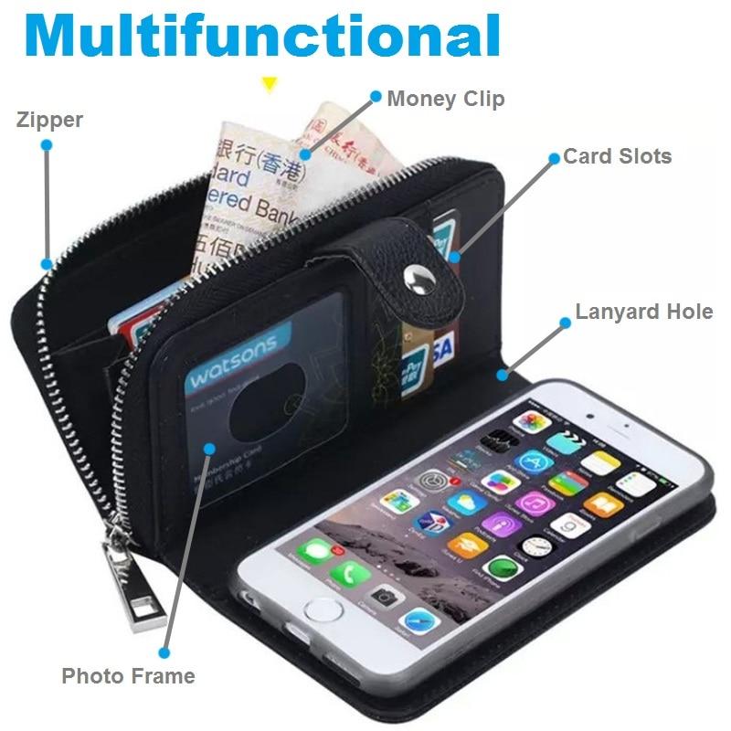LANCASE Θήκες πορτοφολιών για θήκη iPhone 7 - Ανταλλακτικά και αξεσουάρ κινητών τηλεφώνων - Φωτογραφία 3
