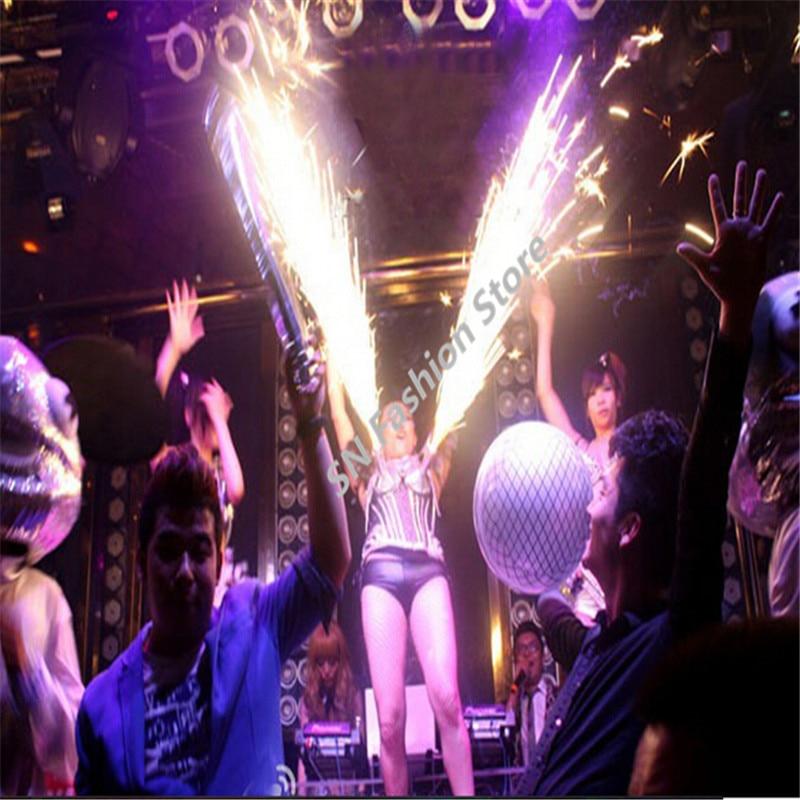 WX08 cantante fuegos artificiales fríos plata Ropa danza bar ...