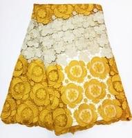 Cabo de Tecido de Renda Africano 2017 Swiss Voile Tecido de Renda Guipure Para O Casamento de Alta Qualidade Tecido de Renda Francesa para o Vestido B317100704