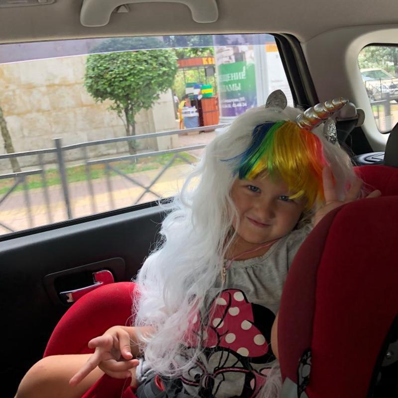 1pcs Unicorn Wig Halloween Mask Cosplay Hair Rainbow Party Decoration 2019 Masque Supplies