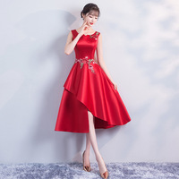red Summer Short Cheongsam New Traditional Chinese style Womens Elegant Slim Qipao Party Dress Vestidos Size S XXL