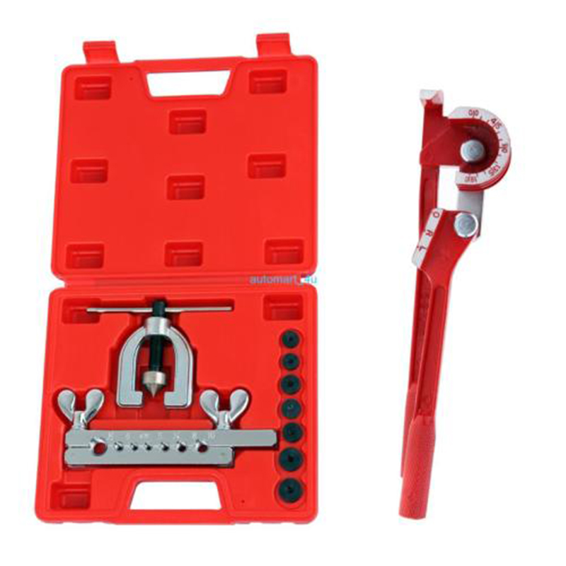 (Shipping From EU) Brake Pipe Tools Fuel Copper Hose Repair Kit Cutter Double Flaring Dies Clamp Tool Kit