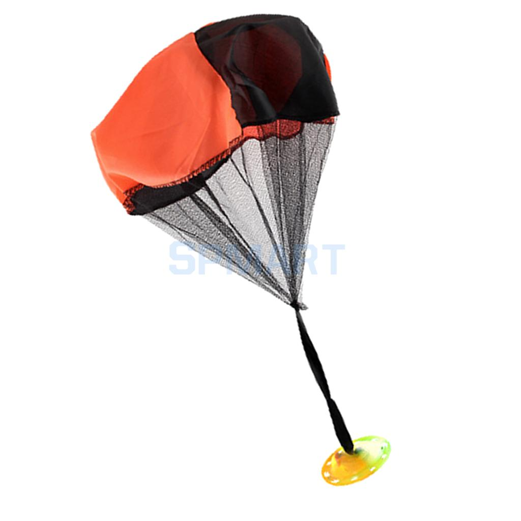 Mini Flashing Hand Throwing Parachute Outdoor Sports Game Kids Toy Playset