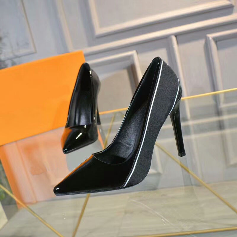 De D'origine Talons Femmes Libre À Simples Expédition Chaussures Noir Mince Hauts Classique Dhl En Cuir x58tIw4n