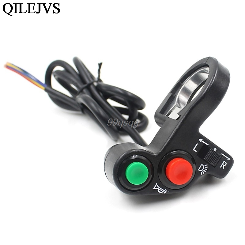 Motorcycle Electric <font><b>Bike</b></font>/Scooter Light Turn Signal&Horn <font><b>Switch</b></font> ON/OFF Button W/Red Green Buttons 22mm Dia <font><b>Handlebars</b></font> Drop ship image