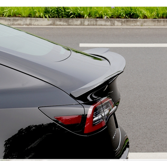 High quality ABS rear spoiler black suitcase for Tesla model 3 2017 2018-2019