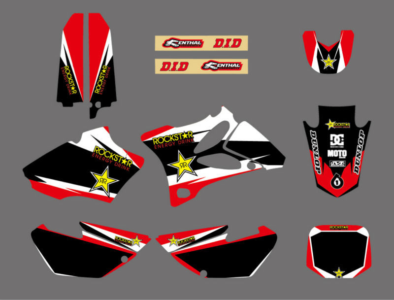 GRAPHICS & BACKGROUND DECAL STICKER Kit For Yamaha YZ85 YZ 85 2002 2003 2004 2005 2006 2007 2008 2009 2010 2011 2012 2013 2014