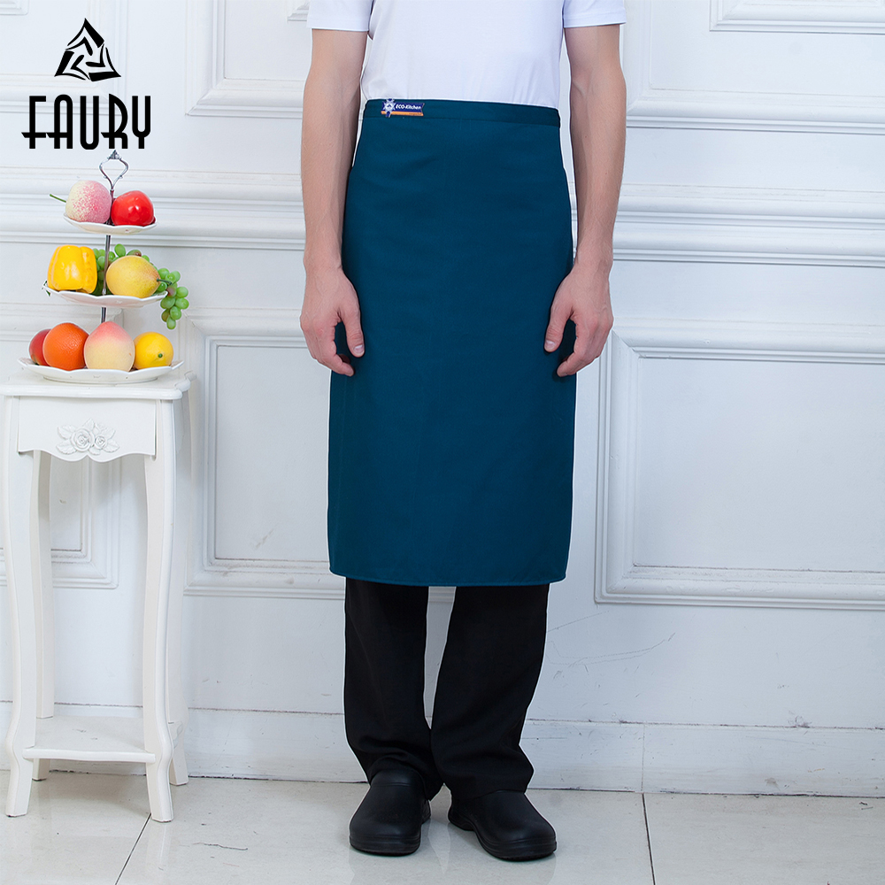 Wholesale Unisex Food Service Chef Kitchen Cooking Half Apron Coffee Shop Restaurant Bakery Waiter Cleaning Workwear Uniform