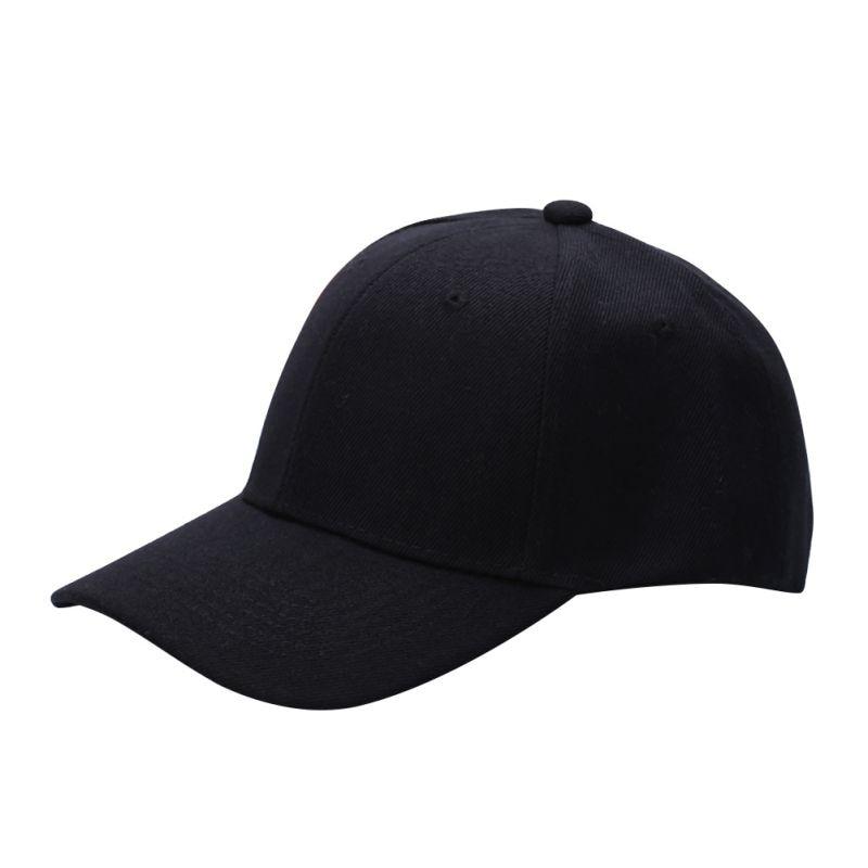 Hat Baseball-Cap Curved-Visor Nylon Plain Solid-Color Casual Women Adjustable-Size Fastener-Tape