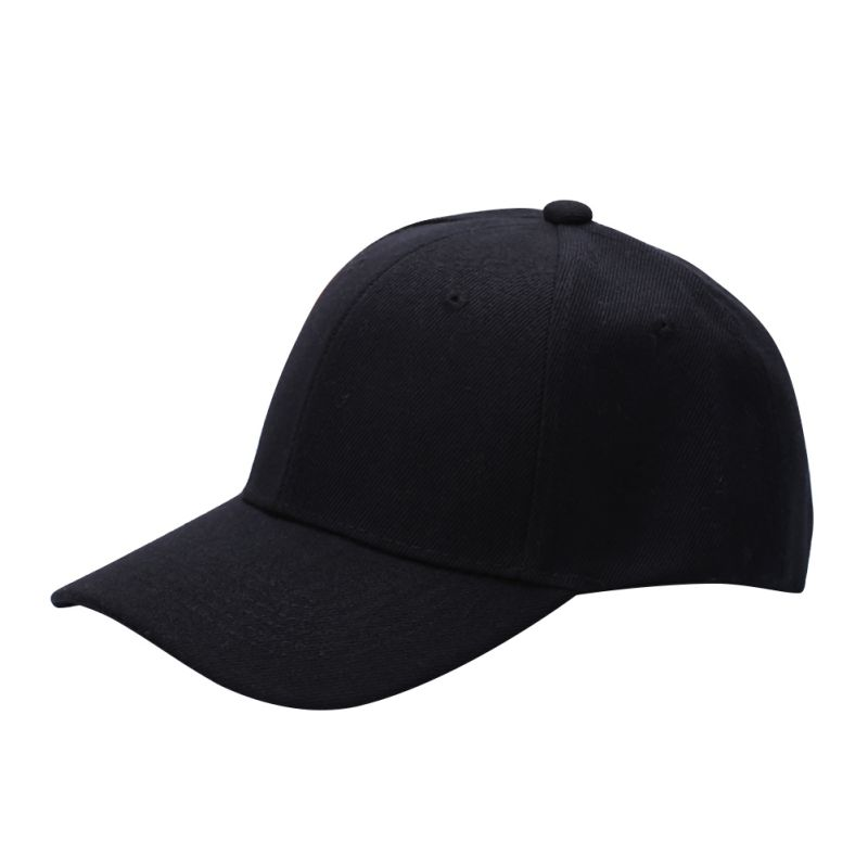 Men Women Plain Solid Color   Baseball     Cap   Curved Visor Hat Adjustable Size Nylon Fastener Tape Casual Hats