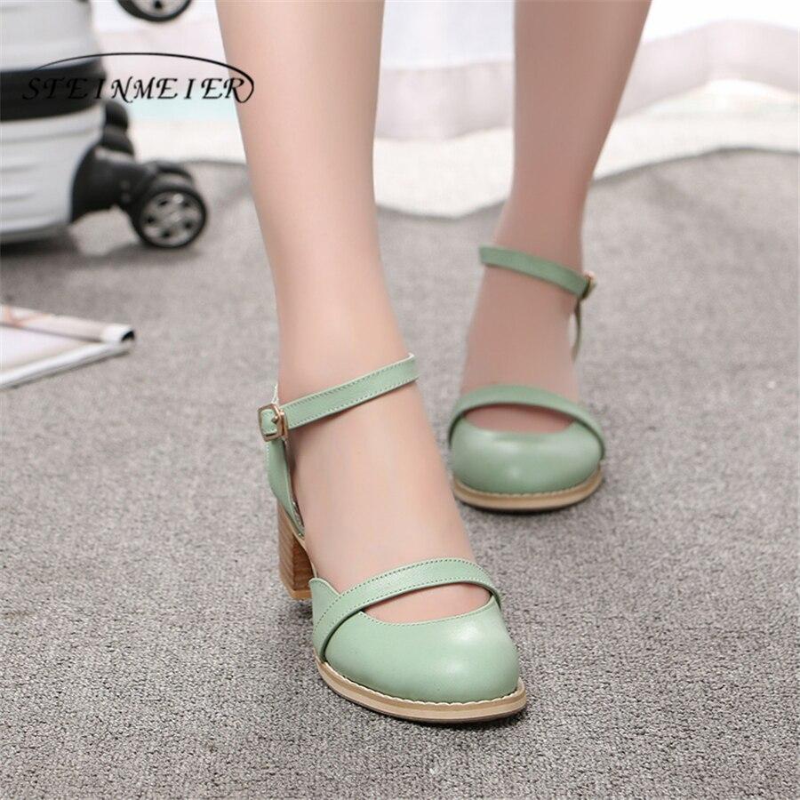 Women sandals oxford shoes vintage genuine leather high heels gladiator oxfords summer platform sandals for women