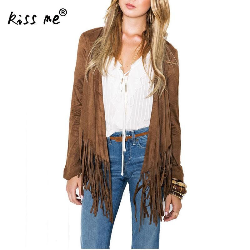 Women Cardigan Parch Tassels Long Sleeve Ladies Tops Solid Khaki Colors Autumn Spring Women Tops Casual Women Clothing XL