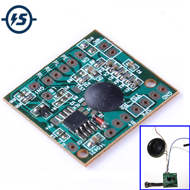 New Fashion 120s 120secs Voice Recorder Chip Sound Recording Playback Module Talking Music Audio Recordable Board For Electronic Toy Gift Clear-Cut Texture Electronic Components & Supplies