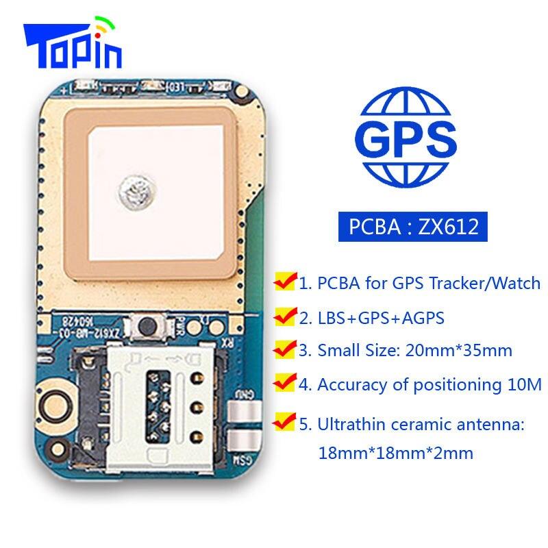 Hot ZX612 Mini Escondido Rastreador GPS Posicionador Locator SOS Alarme Web APP Rastreamento Alta Integração PCBA para Crianças Crianças Animais de Estimação carro