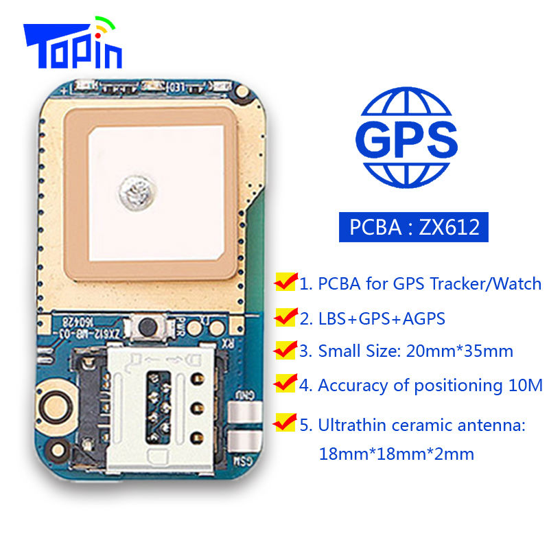 Hot ZX612 Mini Hidden GPS Tracker Positioner Locator SOS Alarm Web APP Tracking High Integration PCBA for Kids Children Pets Car