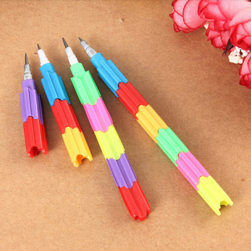 4Pcs//lot Cute Non-Sharpening Pencils Bullet pencil Set For Kids Students Gifts