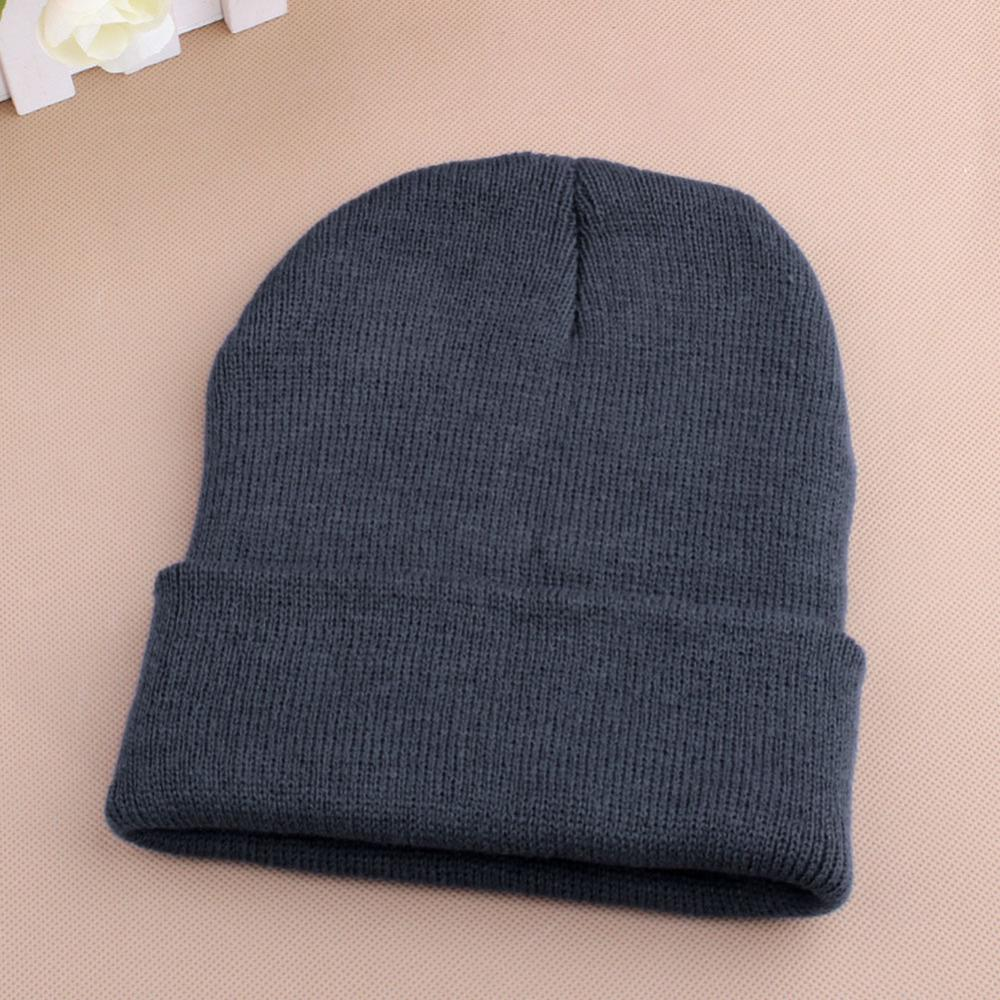 Women Men Winter Hat Snap Back Muts Knit Hip Hop Beanie Warm Ski Cap Bonnet femme Solid  ...
