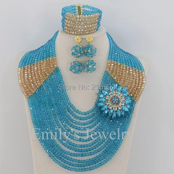 Fashionable African Costume font b Jewelry b font Set New Crystal Beads font b Jewelry b