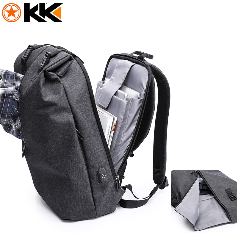 KAKA Multifunction USB charging Laptop bag 15.6 inch men backpack schoolbag mochila Anti theft Backpacks male bags for Travel