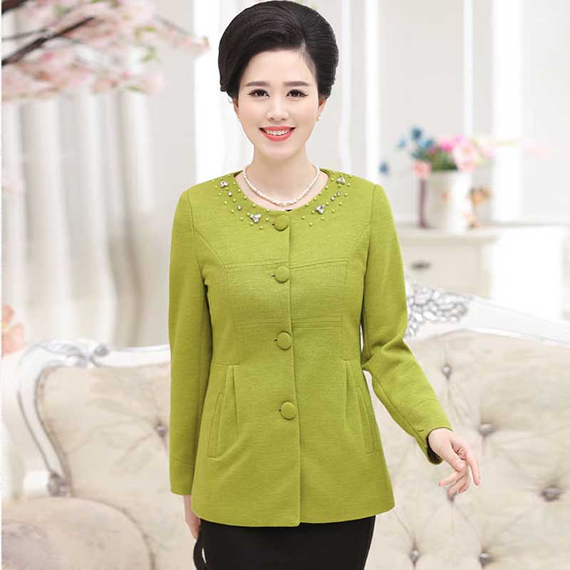 0bf06661ad5 ②Middle-aged and old women s brief paragraph coat PY180-WT - a322
