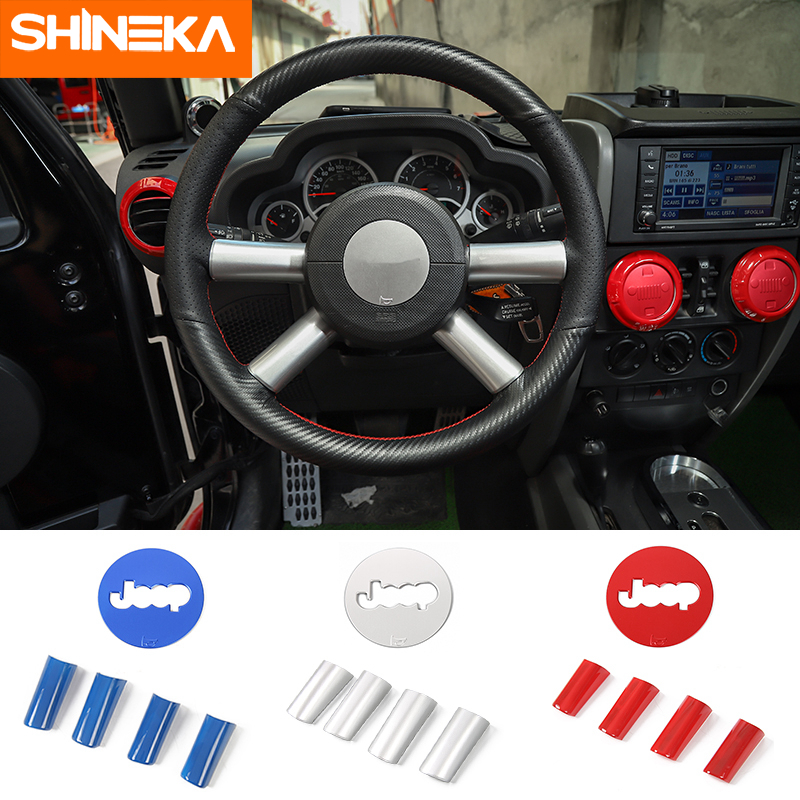 Chrome Interior Set for Jeep Wrangler JK from 2007-2010