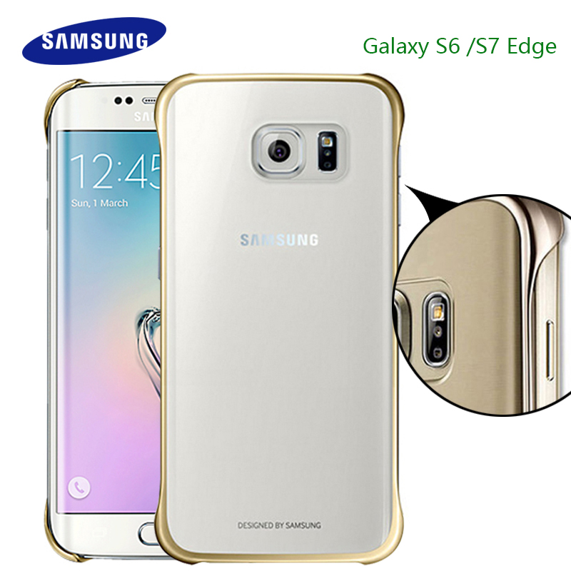 100% <font><b>Original</b></font> <font><b>Samsung</b></font> <font><b>S7</b></font> S6 <font><b>Edge</b></font> <font><b>Case</b></font> Transparent protective shell Ultra Slim Back Protective <font><b>Case</b></font> for <font><b>samsung</b></font> <font><b>s7</b></font> S6 Clear Cover image