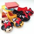 Mini melissa melissa sandalias para niñas sandalias zapatos de bebé de mickey minnie de los niños sandalias de la jalea de melissa zapatos de los niños