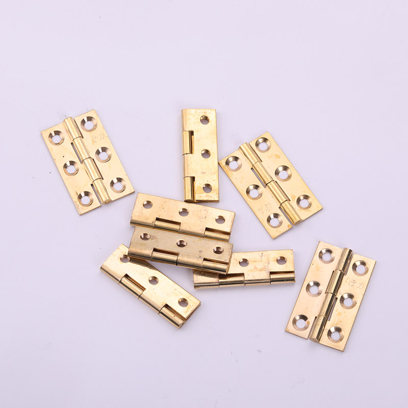 Brass Singe Furniture Hinge 38 mm Door Kitchen Furniture Woodworking Accessories Durable Connector Hardware 6 Holes 1.5 Inch