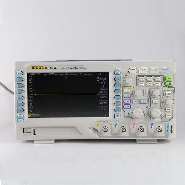Orijinal Rigol DS1054Z Unlocked 4 kanal 50Mhz bant genişliği 12Mpts bellek dijital osiloskop, 4 seçenekleri ücretsiz, marka yeni